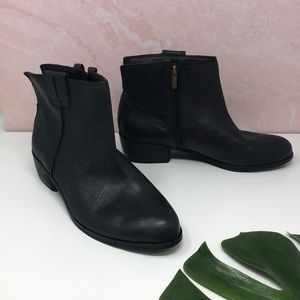 Sam Edelman Black Leather Ankle Booties 10 D5
